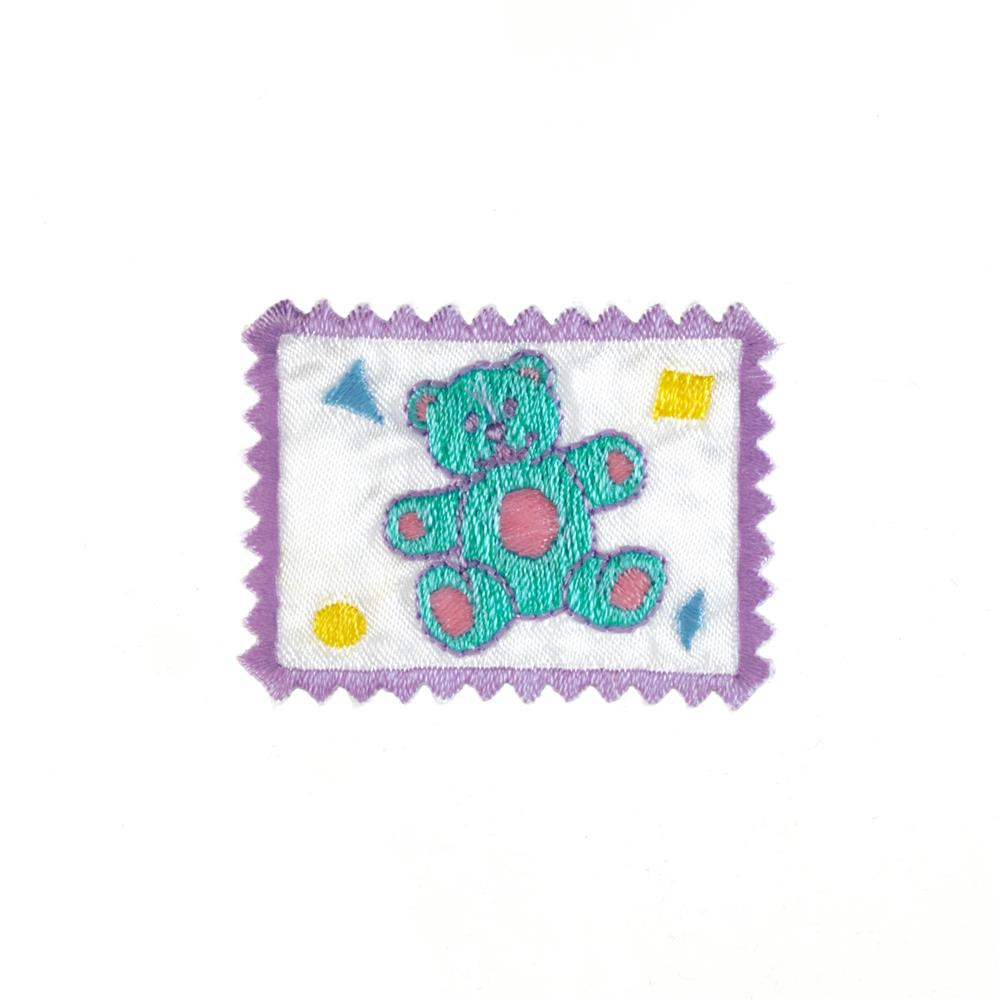 Bear Stamp Applique Lilac