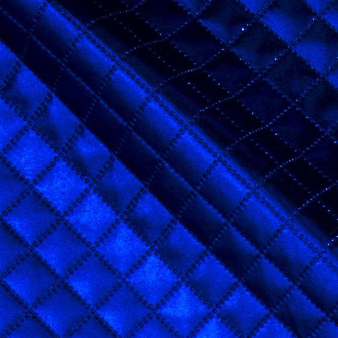 Quilted Metallic Lame Royal