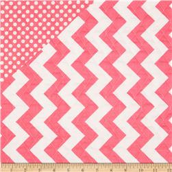 Riley Blake Double Sided Quilted Medium Chevron Hot
