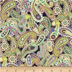 Paisley Peacock Metallic Paisley Royal/Gold