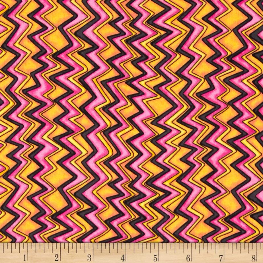 Quilting Treasures Monster Mash Mini Chevron Pink