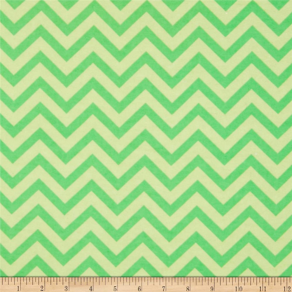 Flannel Chevron Green
