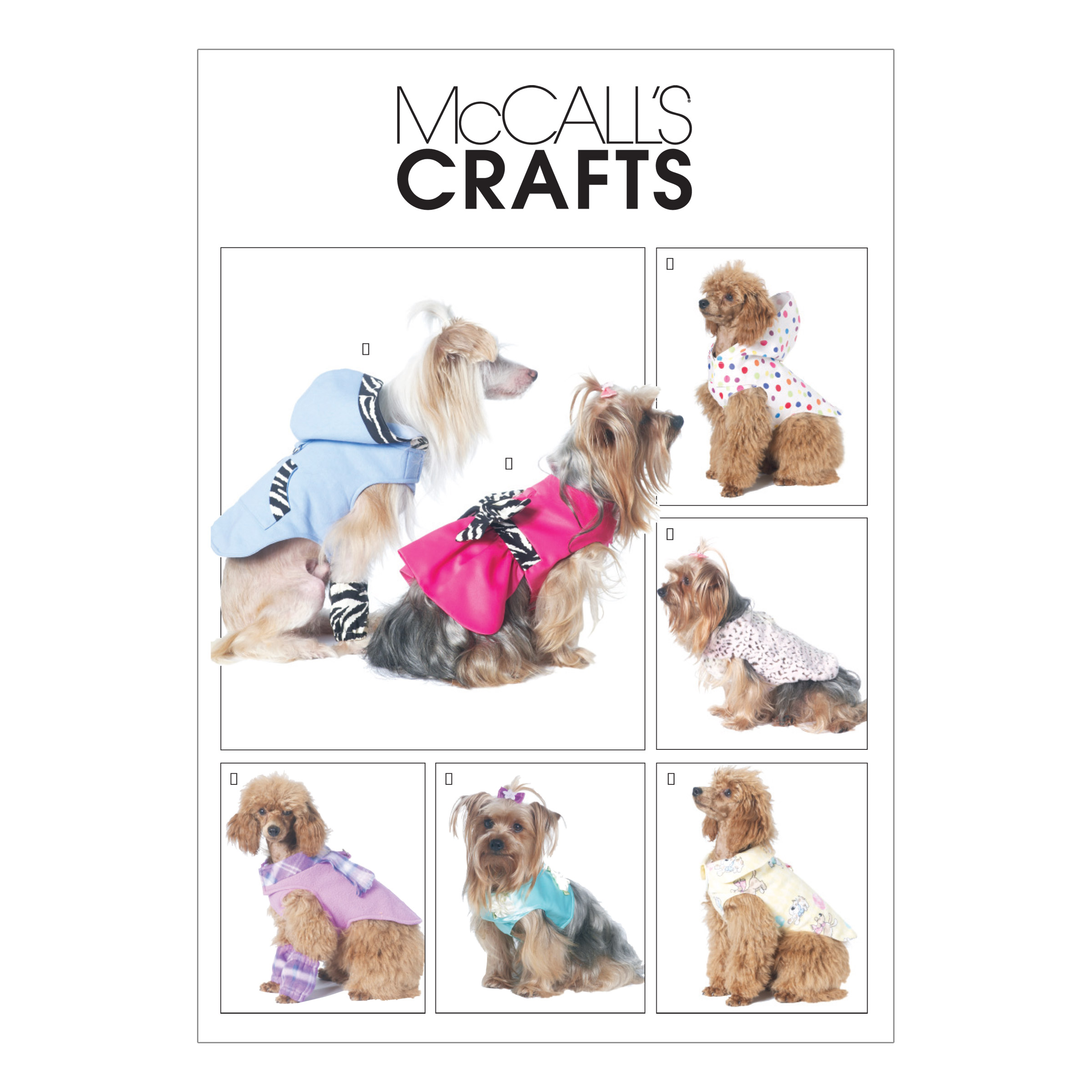 McCall's Pet Clothes Pattern M6218 Size OSZ by Kwik Sew in USA