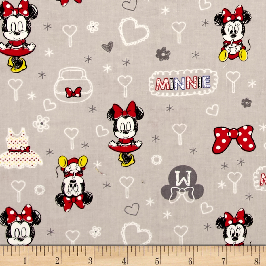 Disney Mickey Mouse & Friends Minnie Zinc Fabric by Eugene in USA