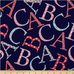 Michael Miller Cynthia Rowley Oh Baby ABC Toss Coral