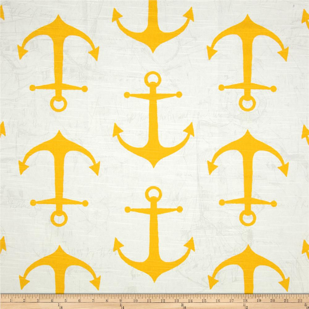 Premier Prints Anchor Slub Corn Yellow