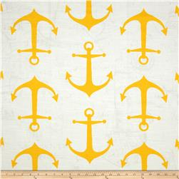 Premier Prints Anchors Slub Corn Yellow