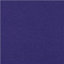 Cotton Rib Knit Purple