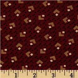 Judie's Album Blocks Burgundy/Brown