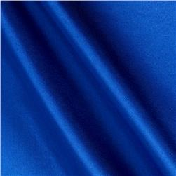Poly Charmeuse Satin Bright Royal Fabric