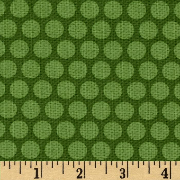Tone on Tone Dots Green