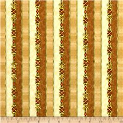 Quilting Treasures The Ten Commandments Stripe Tan