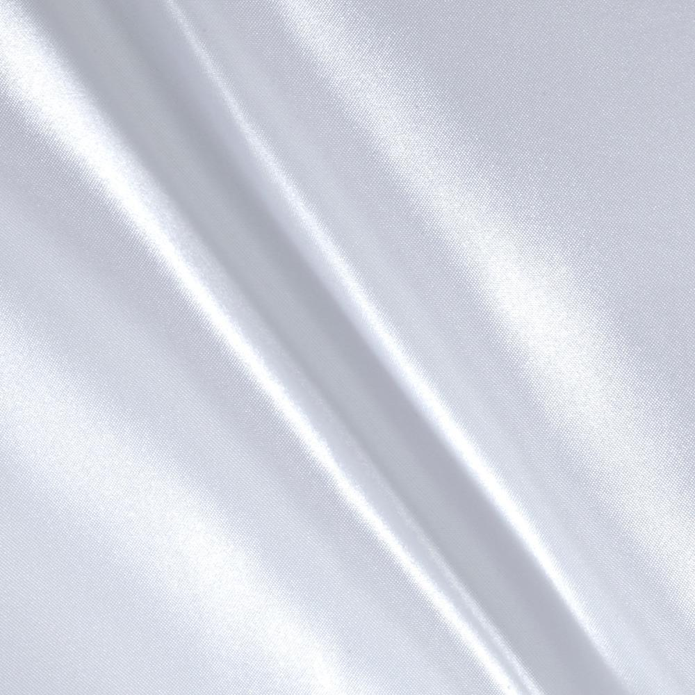 Poly Charmeuse Satin White