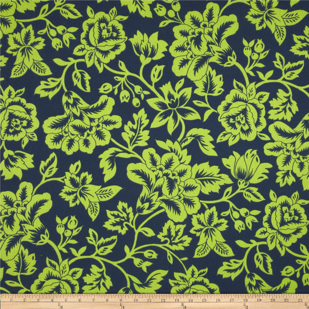 Caymans Indoor/Outdoor Flower Show Navy/Lime
