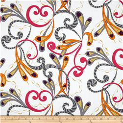 Valori Wells Quill Mod Feathers Extract Purple Fabric