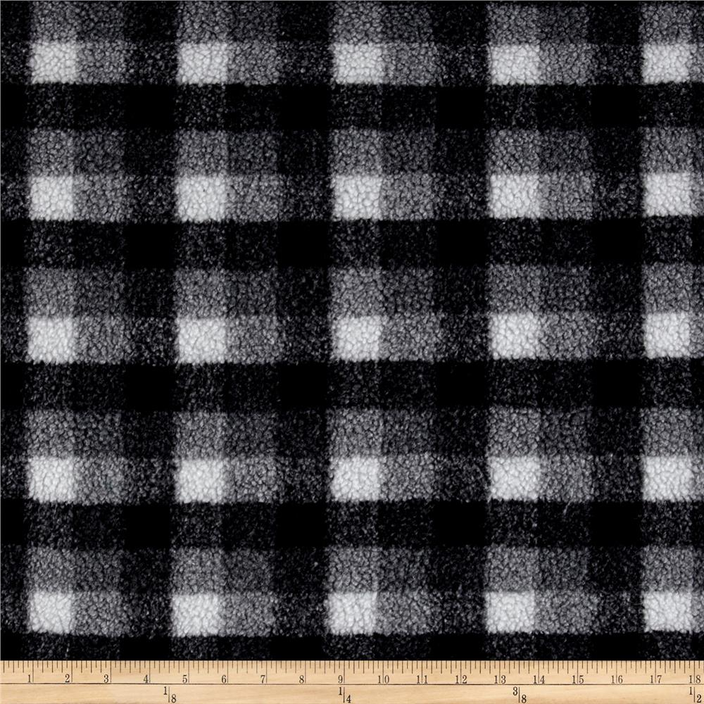 Shannon Berber Check Fleece Charcoal