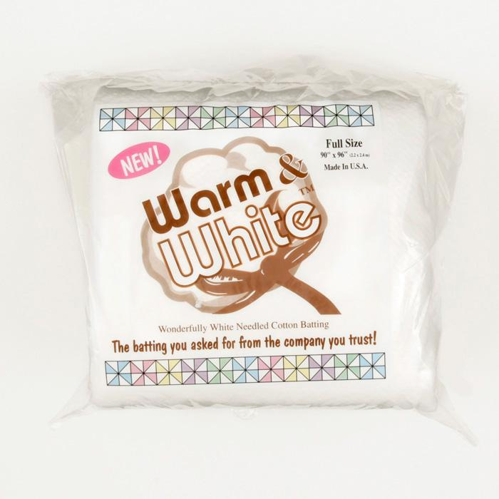 Warm & White Cotton Batting (90'' x 96'') Full Size