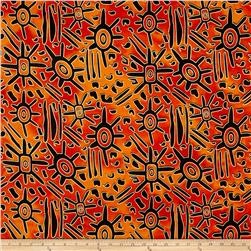 Indian Batik Urban Ethnic Tribal  Orange/Red