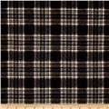 Timeless Treasures Oxford Flannels Tonal Plaid Black