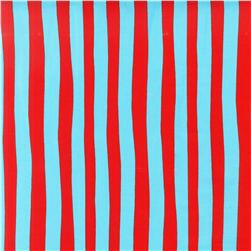 Celebrate Seuss! Squiggle Stripe Red/Blue Fabric