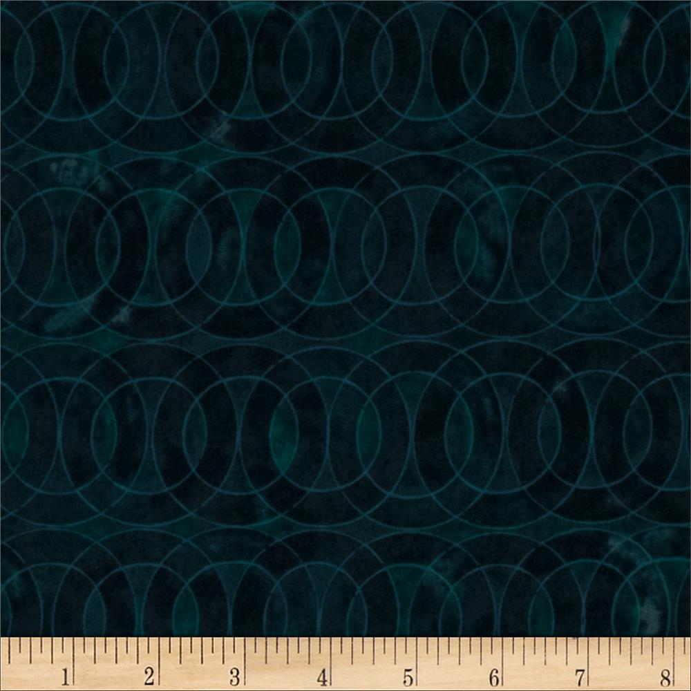 Studio Stash Stained Glass Circle Teal