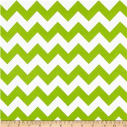 Riley Blake Flannel Basics Chevron Medium Lime Fabric