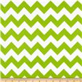 Riley Blake Flannel Basics Chevron Medium Lime