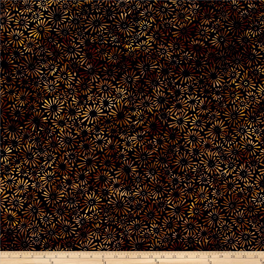 Wilmington Batiks Flower Field Black/Gold