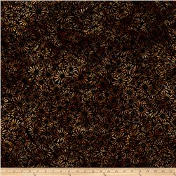 Batavian Batiks Flower Field Black/Gold