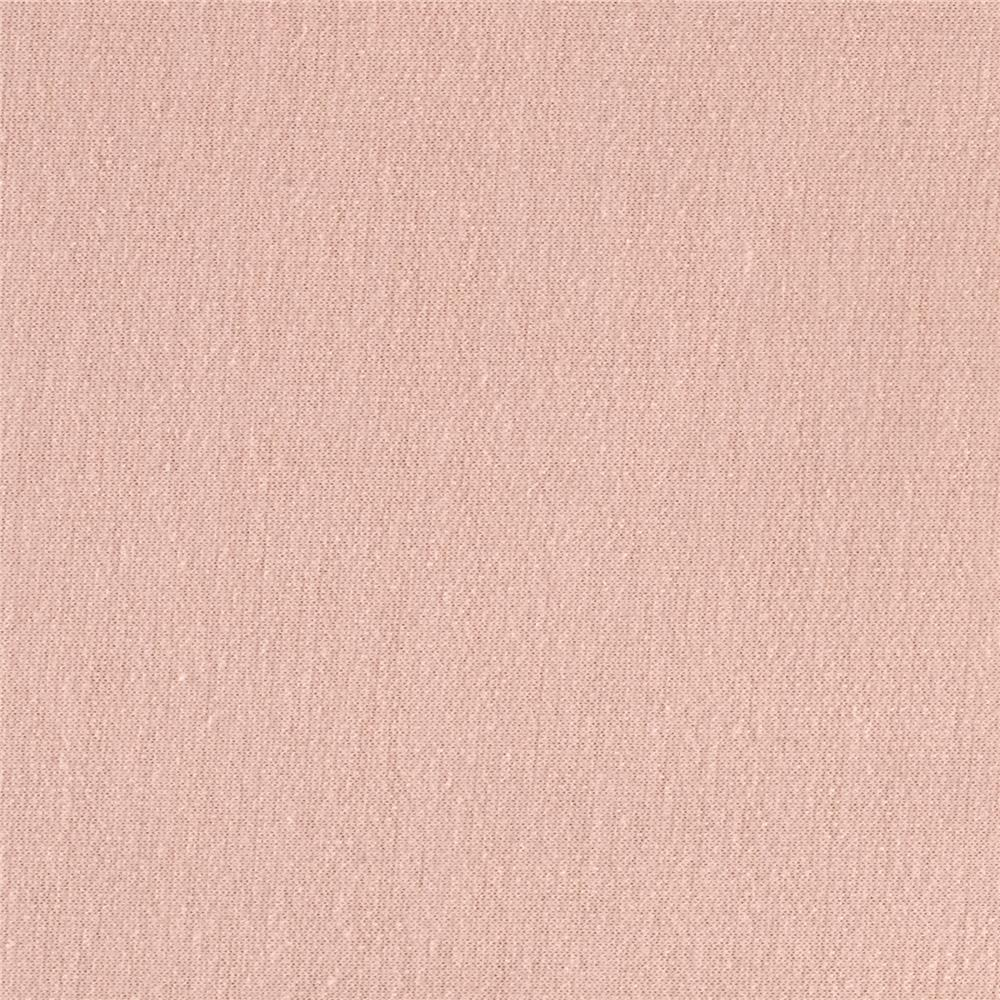French Terry Knit Solid Shrimp Pink