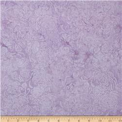 Island Batik Angel Light Lilac Scroll w/Flower