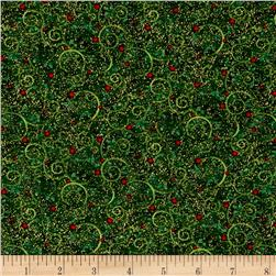 Mistletoe Metallic Christmas Berry Forest