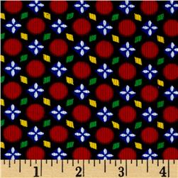 Corduroy Print Decorative Dots Red