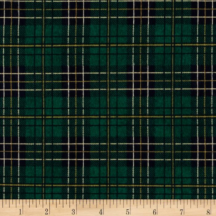 Mountain Lodge Flannel Classic Plaid Green/Navy/Gold