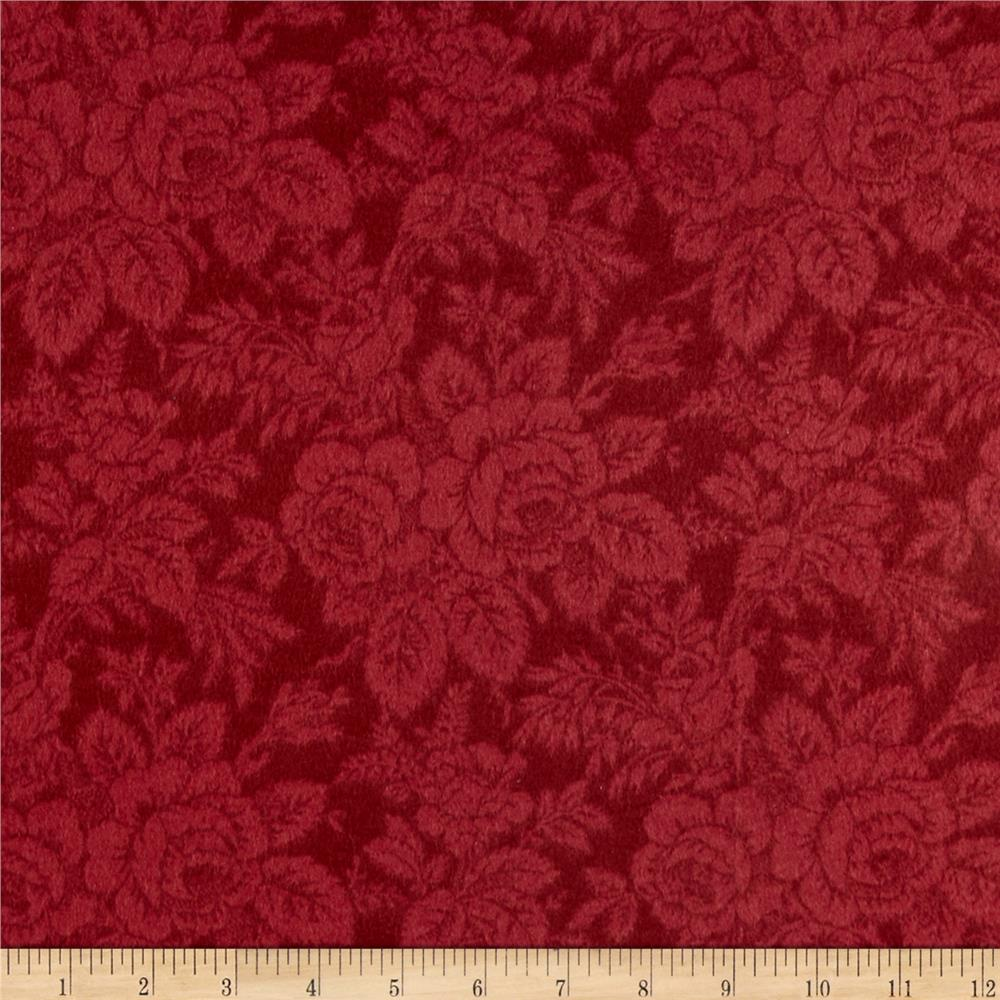 Timeless Treasures Tailormade Flannel Tonal Rose Red