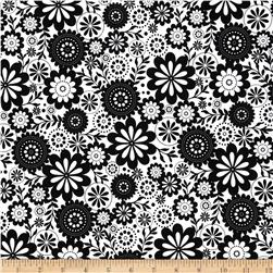 Riley Blake Evening Blooms Floral White