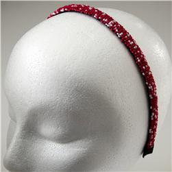 1/2'' Seed Bead Headband White/Pink