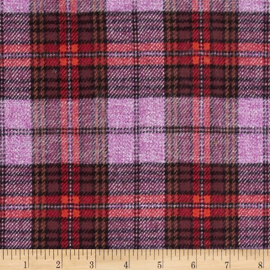 6 oz. Flannel Plaid Red/Wine/Purple