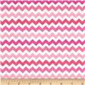 Timeless Treasures Ziggy Small Chevron Sweet Pink