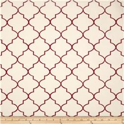 Kaslen Hepburn Embroidered Quatrefoil Wine