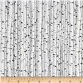 Natural Treasures 2 Birch Trees Light Grey