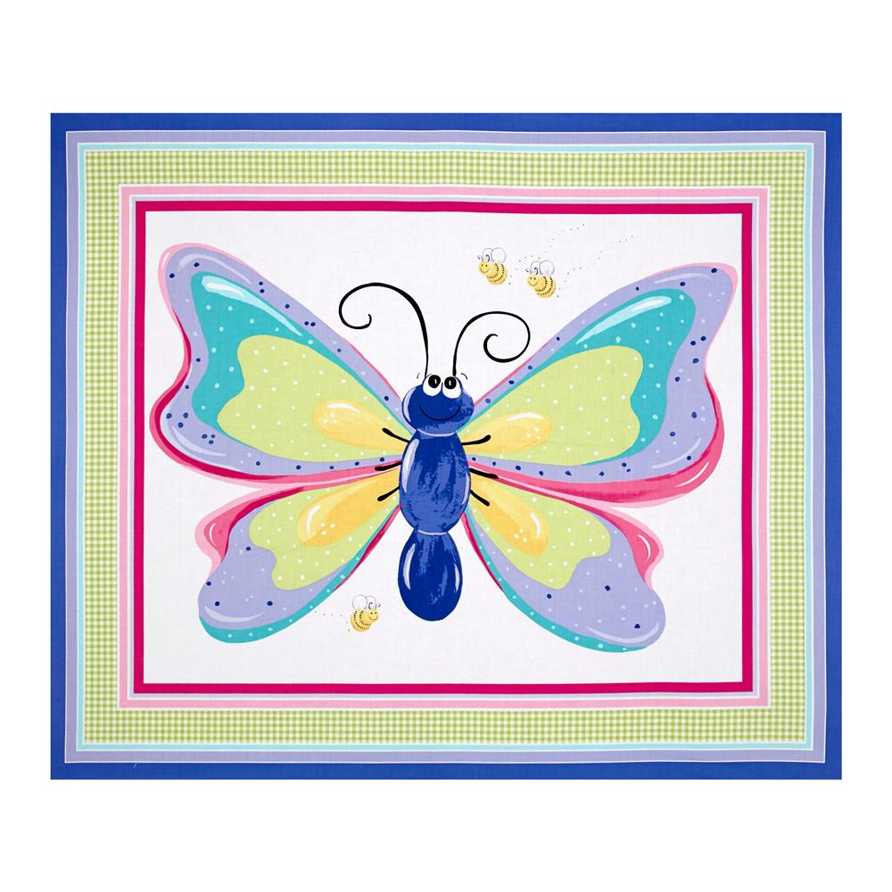 "Flutter the Butterfly Flutter Wall Hanging 35.5"" Panel Lilac"