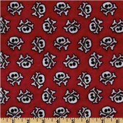 Minky Cuddle Crossbone Red
