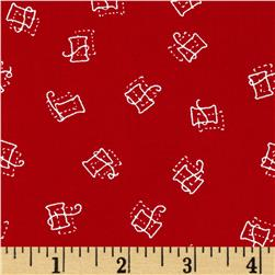 Red Spools Red Fabric