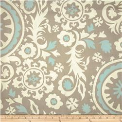 Premier Prints Suzani Powder Blue/White Fabric