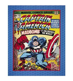 "Marvel Comics Captain America Digital 35.5"" Panel Multi"