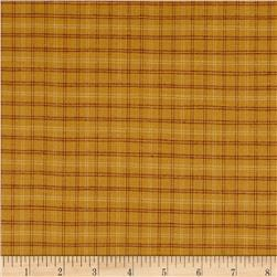 Autumn Song Yarn Dye Window Pane Plaid Cheddar