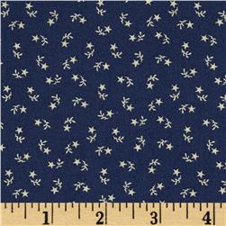 Let Freedom Ring Star Sprigs Navy