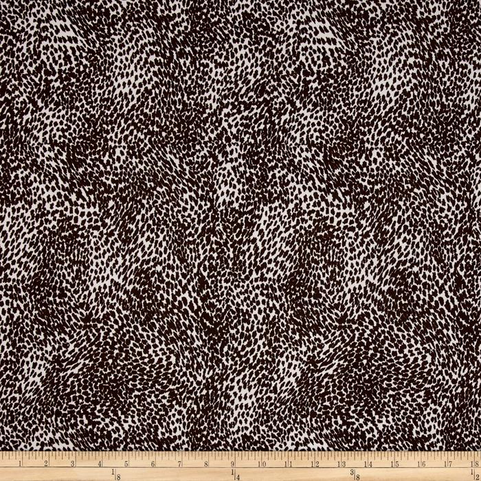 Stretch ITY Knit Small Animal Brown