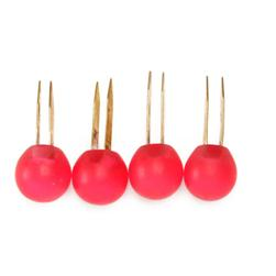 Matte Resin Ball Handbag Feet Rouge Red 4/pkg